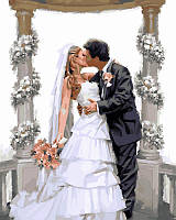 Картины по номерам 40 × 50 см. Свадебная арка Худ МакНейл Ричард