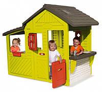 Дом детский игровой садовый с кухней-барбекю, звонком, 185х109х148 см