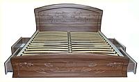 Кровать с ящиками для белья Эмилия двуспальная с ортопедическими ламелями