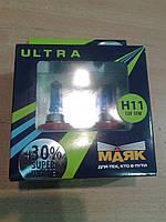 Маяк ultra super white+30% h11 55w 12v 4000k