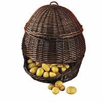 Корзина для хранения овощей и фруктов темный вэл. 47см.