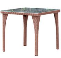 Стол из ротанга 80x80 см коричневый NL-9286