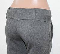 Брюки женские с поясом серые