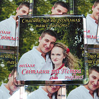 Свадебные магниты с фото