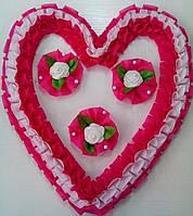 Свадебное сердце для украшения свадебного авто (малиновое)