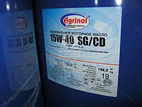 Масло моторное Агринол STANDART 15W-40 CD (Бочка 180л), 15W-40