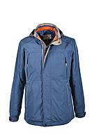 Куртка - ветровка мужская больших размеров прямого покроя с воротником-стойка