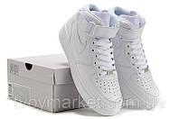 Кроссовки Nike Air Force High БЕЛЫЕ Оригинальные