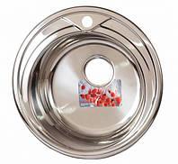 Мойка для кухни врезная круг 510 х 165/180 ULA 0,8 глянцевая