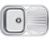 Мойка для кухни врезная прямоугольная 770 х 500 х 175/180 ULA 0,8 декор