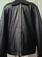 Куртка кожаная мужская на молнии длина 65см 46р 48р