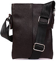 Маленькая коричневая сумка через плечо 21х16х5см.