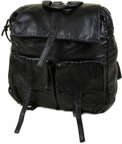 Практичный рюкзак из искусственной кожи 6603 black, черный