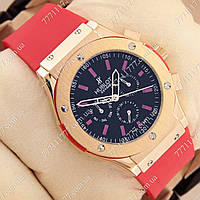 Часы мужские наручные Hublot Big Bang AA Red/Gold/Black