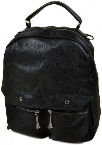 Стильный рюкзак из нейлона  8001 black, черный