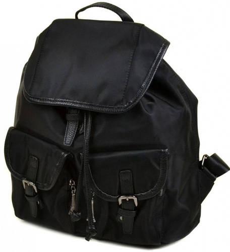 Отличный женский рюкзак из нейлона 8731 black, черный