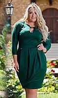 Д1006 Платье  размеры 50-56 изумруд