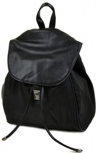 Классический женский рюкзак из нейлона 8768 black, черный