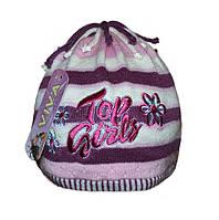 Детская вязаная шапка 3-8 лет  (Б.О.Л)