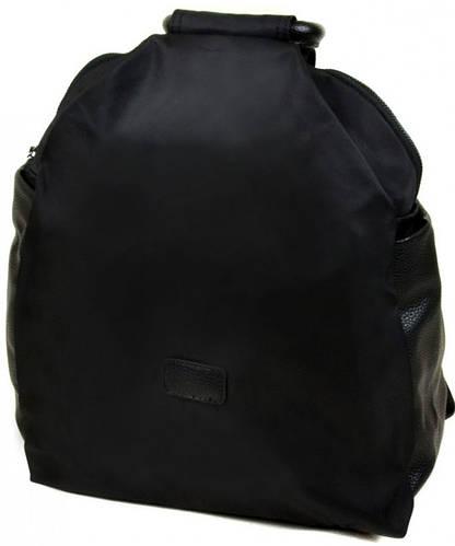 Превосходный женский рюкзак из нейлона D006 black, черный
