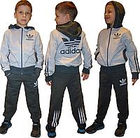 Детский спортивный костюм ADIDAS  Серо-антрацитовый .