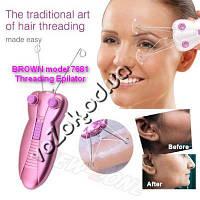 Прибор для выщипывания и удаления волос ниткой эпилятор Thread Hair Remover Epilator Brown 7681