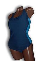 Купальник женский спортивный для бассейна. Большой размер. Синий. Polovi. 1519C