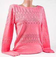 Пуловер, кофта со стразами Супер-цена ярко-коралловый