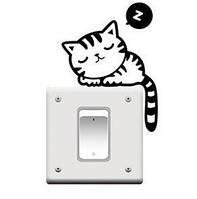 Наклейка на выключатель Котёнок 3D декор