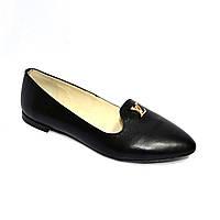 Туфли женские кожаные на плоской подошве, фото 1