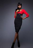 Платье Красно-Черное Эффект Утяжки S-XL