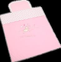 Комплект №1,  в коляску для детей,  розовый  (вилюр) WOMAR