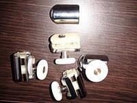 Ролик для гидробокса R4: одинарный, на 1 крепление, 25 мм, пластик, хром
