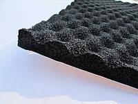 Шумоизоляция ULTIMATE SOFT А каучук 50х100 см с клеем и пирамидальной поверхностью