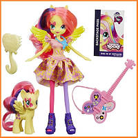 Кукла My Little Pony Equestria Girls Флаттершай с пони Эквестрия герлз