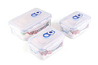 Набор герметичных пластиковых контейнеров GIPFEL 4547