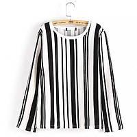 Стильная блузка в полоску, 2 цвета