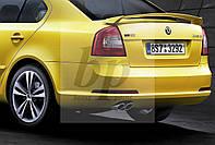 Spoiler RS-style спойлер багажника - РС) Skoda octavia II A5 (шкода октавия а5) 2004+