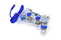 Геймпад проводной для ПК K-800 USB 2.0 Mono Shock (Blue)