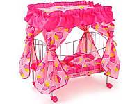 Кроватка для кукол MELOGO 9350/015 железная с балдахином