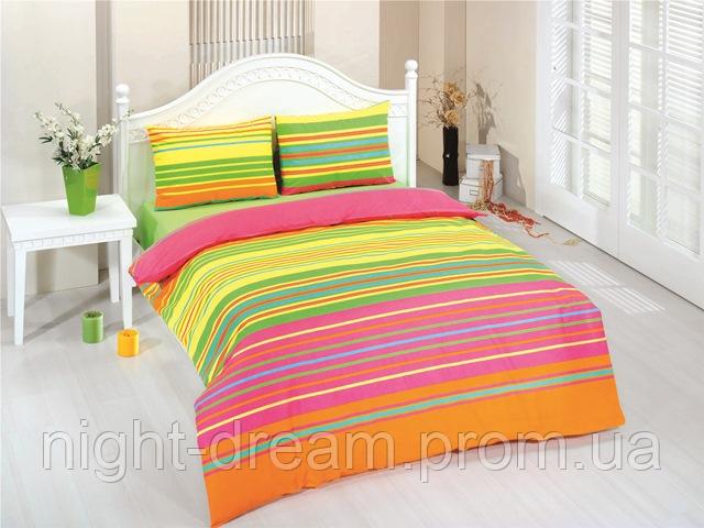 Набор постельного белья 160х220 ZAMBAK Ranforce Цвета радуги