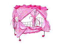 Кроватка для кукол MELOGO 0476 U/R железная с балдахином