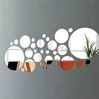 30 шт зеркала пластиковые декор Наклейка на стену 3D бабочка декор комнату квартиры зеркало для интерьера