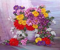 Набор для вышивки лентами Осенние цветы НЛ-3021