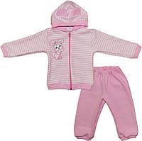 Детский костюм с капюшоном для девочки с ушками