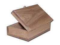 Деревянная заготовка -  Шкатулка для творчества прямоугольная, размеры 11x15,5x6 см, 1 шт