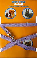 Комплект VIP 33 винил кожа, шлея + поводок для кролей, котят и собак мелких пород Коричневый