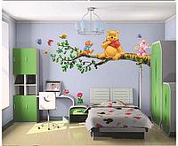 "Наклейка на стену, виниловые наклейки ""Винни-Пух и Пятачок сидят на дереве"" (лист70*50см)"