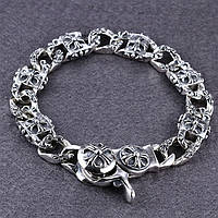 Мужской серебряный браслет Chrome Hearts Кельтский Крест 58,42 гр.