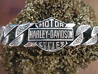 Мужской серебряный большой браслет Harley Davidson 93  гр 22,4 см.